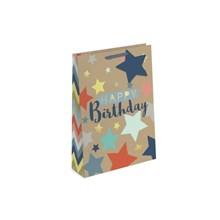 GIFT BAG - HAPPY BIRTHDAY KRAFT EFFECT - MEDIUM