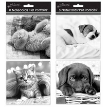 SQUARE NOTECARDS - CATS & DOGS - 8 PACK