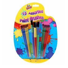 ARTBOX - ASSORTED PAINT BRUSHES - 15 PACK