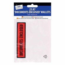 A7 DOCUMENTS ENCLOSED WALLET - 25 PACK