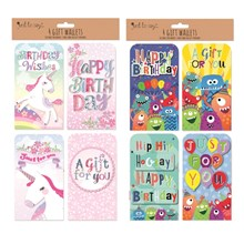 CHILDRENS MONEY WALLET - 2 ASST - 4 PACK