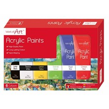 WORK OF ART -  75ML ACRYLIC PAINT SET - 6 PACK