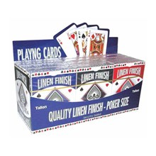 POKER PLAYING CARDS LINEN FINISH
