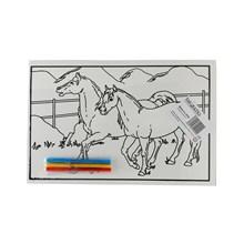 MEDIUM COLOURING BOARD - 2 HORSES