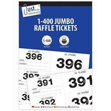 JUST STATIONERY - JUMBO RAFFLE TICKETS 1-400