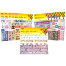 KREATIVE KIDS -  300PC MEGA STICKER PACK - 12ASST