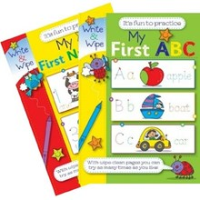 MY FIRST NUMBERS/ ABC WRITE AND WIPE BOOK - 2ASST