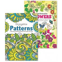 ADULT COLOURING BOOK - FLOWERS AND PATTERNS