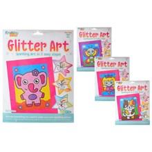 KREATIVE KIDS - GLITTER ART SET - 4ASST