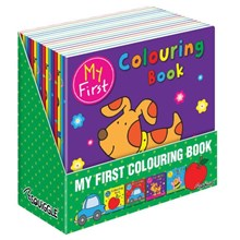 SQUIGGLE - MY FIRST COLOURING BOOK - 4ASST