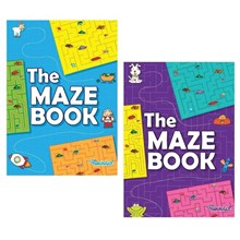 SQUIGGLE - A4 THE MAZE PUZZLE BOOK - 2 ASSORTED
