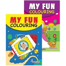 SQUIGGLE - A5 FUN COLOURING BOOK - SPACE/PRINCESS
