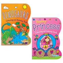 SQUIGGLE COLOURING BOOK -DINOSAUR/ PRINCESS