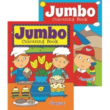 SQUIGGLE - JUMBO COLOURING BOOK 3&4 - 2ASST