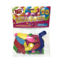 PARTY CRAZY - ASSORTED SHAPED BALLOONS - 20 PACK
