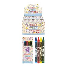 COLOUR WAX CRAYONS 4 PACK
