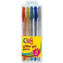 CRE8 - GLITTER GEL PENS - 5 PACK