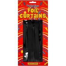 FOIL DOOR CURTAIN BLACK