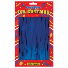 FOIL DOOR CURTAIN BLUE