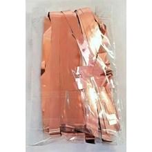 FOIL DOOR CURTAIN - ROSE GOLD