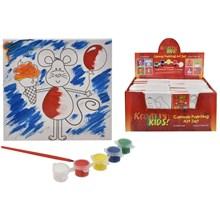KREATIVE KIDS - CANVAS PAINTING ART SET - 8ASST