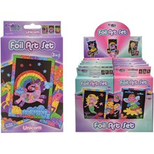 KREATIVE KIDS - 3IN1 FOIL ART SET - 3ASST