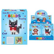 KREATIVE KIDS - IRON ON BEADS KEYRING - 4ASST