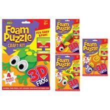 KREATIVE KIDS - FOAM PUZZLE CRAFT KIT - 4ASST