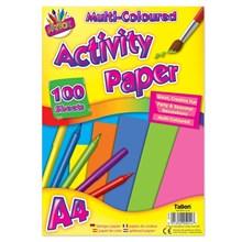 ARTBOX - A4 ACTIVITY PAPER MULTICOLOURED-100 SHEET