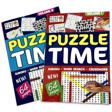 A4 PUZZLE TIME MIXED PUZZLE BOOK - 64PAGES