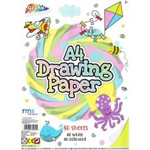 GRAFIX - A4 DRAWING PAPER WHITE & COLOUR PAPER