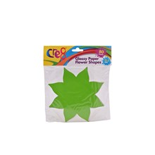 CRE8 - GLOSSY PAPER FLOWER SHAPE - 80SHEETS