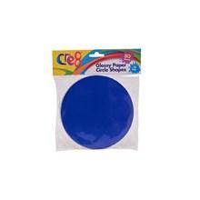 CRE8 - GLOSSY PAPER CIRCLE SHAPES - 80SHEETS