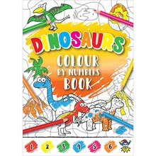 DINOSAURS COLOUR BY NUMBERS MINI COLOURING BOOK