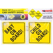 ROADSTER - CAR SAFETY SIGNS - 2PACK
