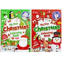 EXTRA LARGE CHRISTMAS COLOURING BOOK - 2ASST