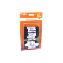 SWL - ASSORTED SHOE LACES - 10 PACK