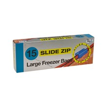 TIDYZ - LARGE FREEZER BAGS SLIDE ZIP - 15 PACK