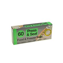 FOOD & FREEZER BAGS PRESS & SEAL - 60 PACK