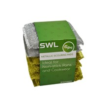 SWL - METALLIC SCOUR PADS - 6 PACK