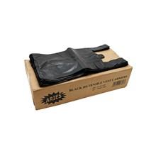 ARIES - CARRIER BAGS BLACK - 100 PACK