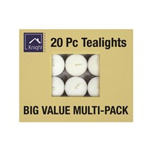 20PC TEALIGHT CANDLES 10GRM