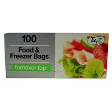 TURNOVER TOP 100 FOOD\FREEZER BAGS