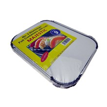 9PC ALUMINIUM FOIL CONTAINERS WITH LIDS NO.2