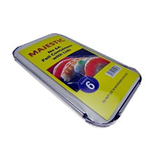 MAJESTIC - FOIL CONTAINERS & LIDS NO.6A - 6 PACK