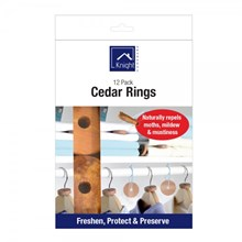 KNIGHT - 12PK MOTH REPELLENT CEDAR WOOD RINGS