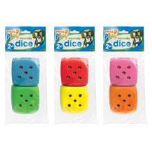 PETS PLAY - SQUEEKY DICE - 2 PACK