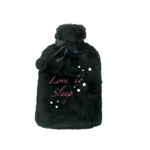 HOT WATER BOTTLE - BLACK