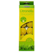 CHATSWORTH - CITRONELLA TEALIGHTS - 12 PACK