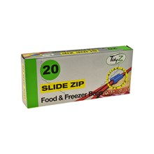TIDYZ - FOOD & FREEZER BAGS SLIDE ZIP - 20 PACK